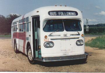 Our ex-Hamilton GM coach 302 at our old Museum site